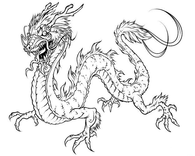 Dragons And Fairies Coloring Pages  Below Is  Realistic Dragon Coloring  Pages That Promise