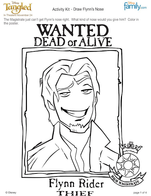 Flynn Rider Coloring Page