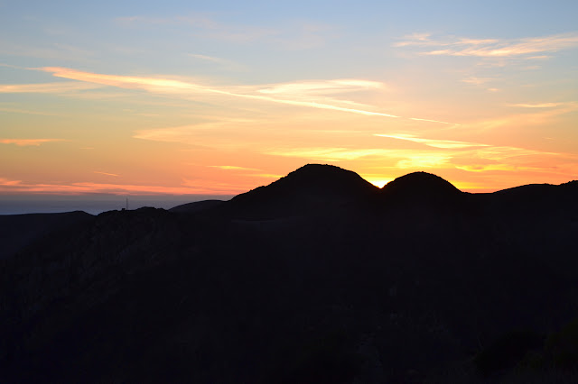 sunset over Gaviota