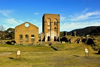 Lithgow: The ruins of the old pump house and Blast Furnace