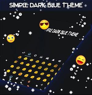 Jednoduchá tmavě modrá téma - náhled