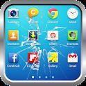 Cracked screen : Broken screen icon