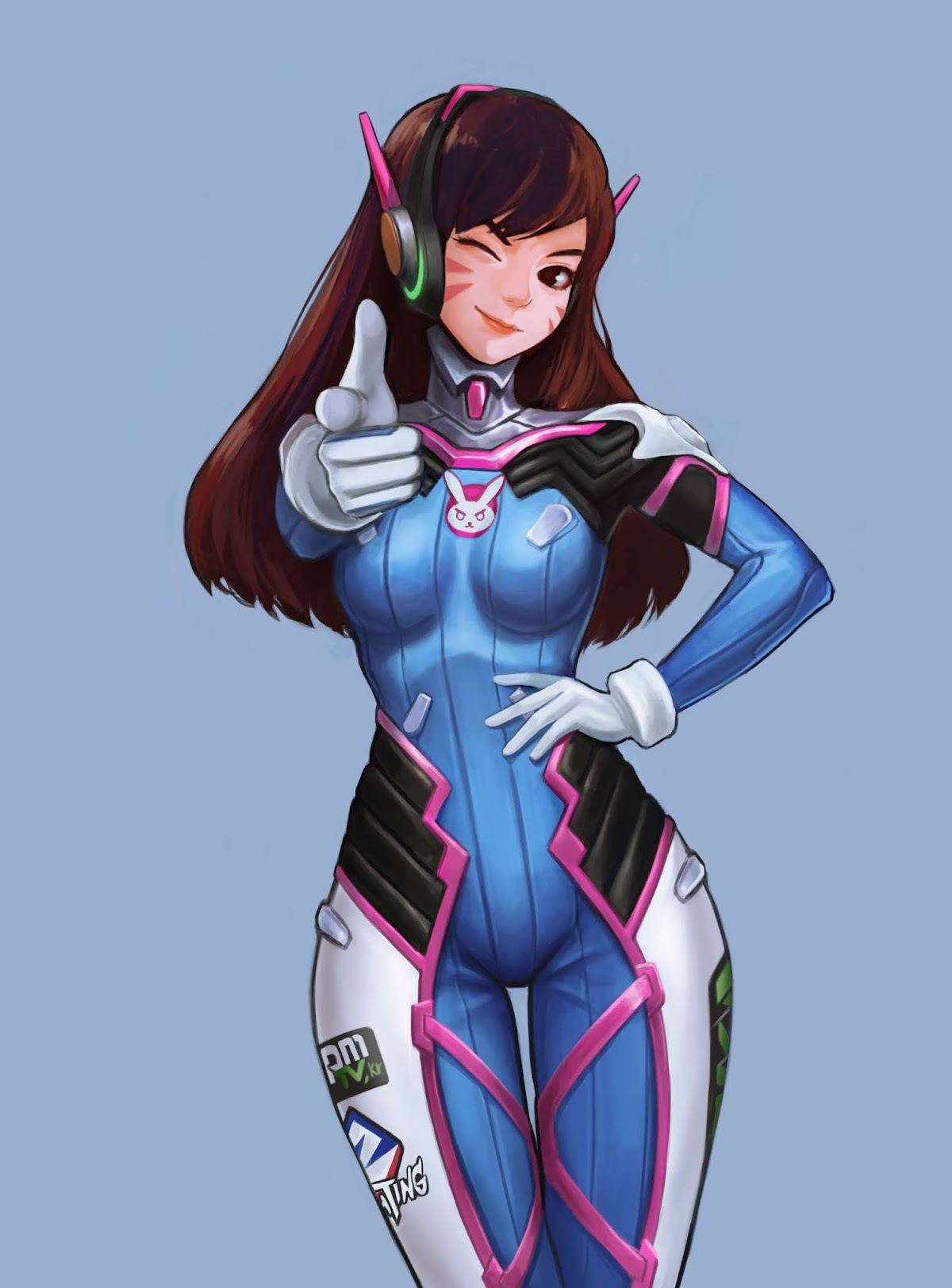 Download Wallpaper D.VA Overwatch Fan Art Wallpaper HD Free