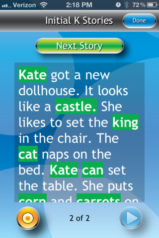 I Can Articulate Story K Words