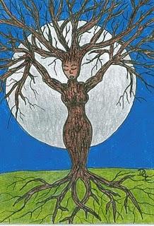 Celtic Goddess Druantia Image