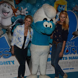 WWW.ENTSIMAGES.COM -  Ashley James and Ianthe Rose Cochrane-Stack    at     The Smurfs 2 - gala film screening at Vue West End (Leicester Square), London, July 28th 2013                                                  Photo Mobis Photos/OIC 0203 174 1069