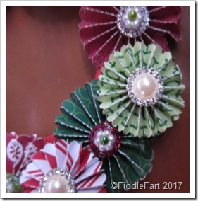 rosette wreath Christmas