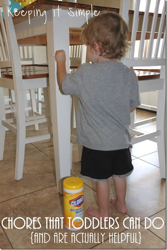 #ad Chores-That-Toddlers-Can-Do #BacktoClean