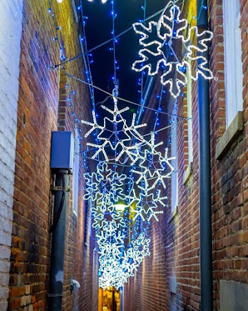 Thank you to Annapolis Running Shop for the Lights Fun Run and great photo of Snowflake Alley
