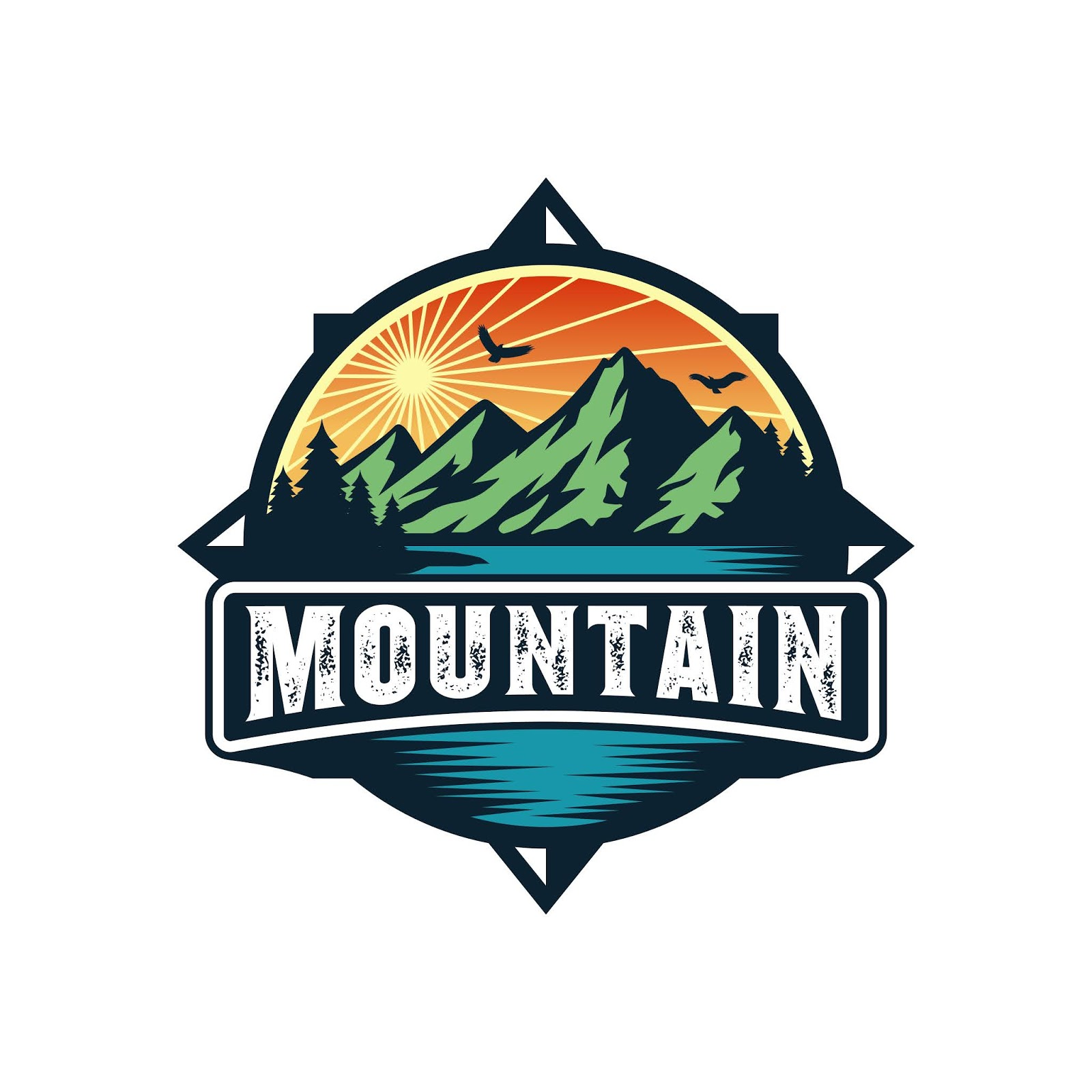 Mountain Logo Adventure Free Download Vector CDR, AI, EPS and PNG Formats