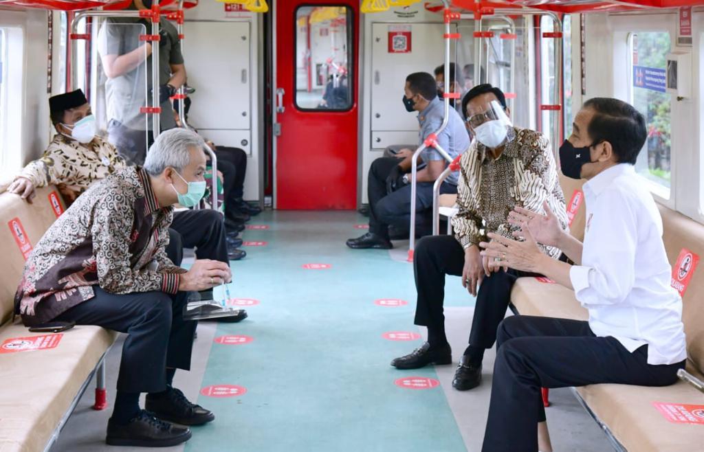 Resmikan KRL Yogya-Solo, Jokowi Dorong Penggunaan Transportasi Ramah Lingkungan