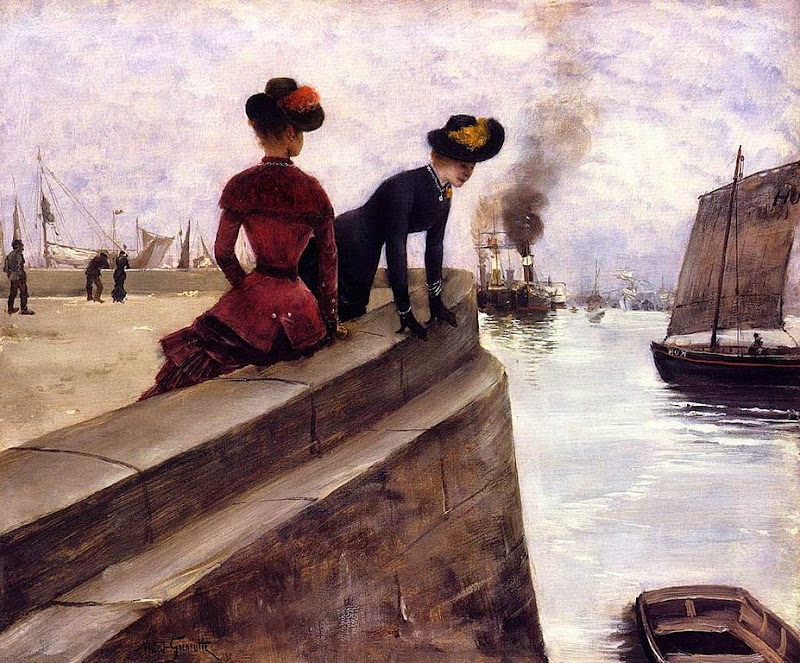 Norbert Goeneutte - On the Jetty, Le Havre