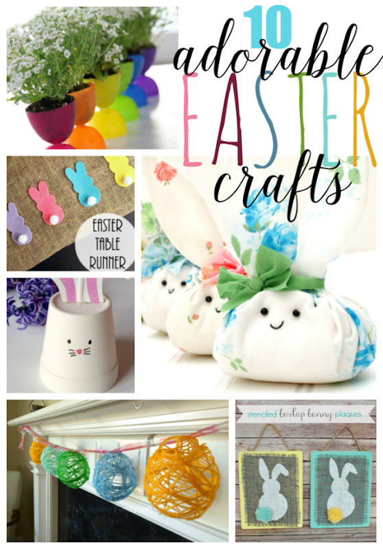 10 Adorable Easter Crafts at GingerSnapCrafts.com #Easter #crafts