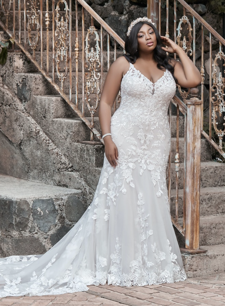 mermaid style wedding dress from Maggie Sottero
