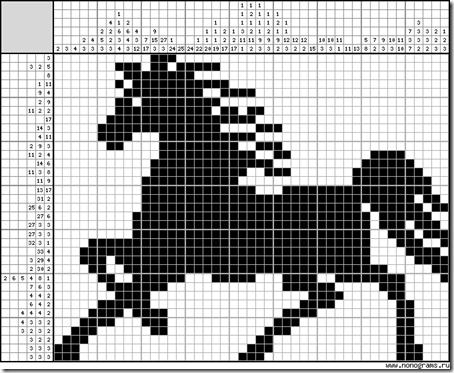 caballo silueta punto cruz  (6)