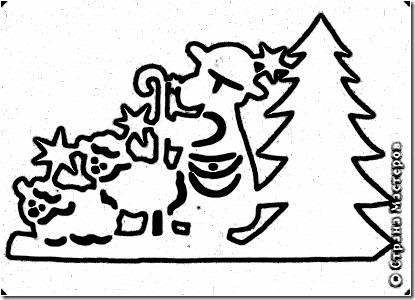 navidad arte recortado (7)7