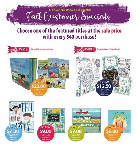 Customer Specials - Fall 2018