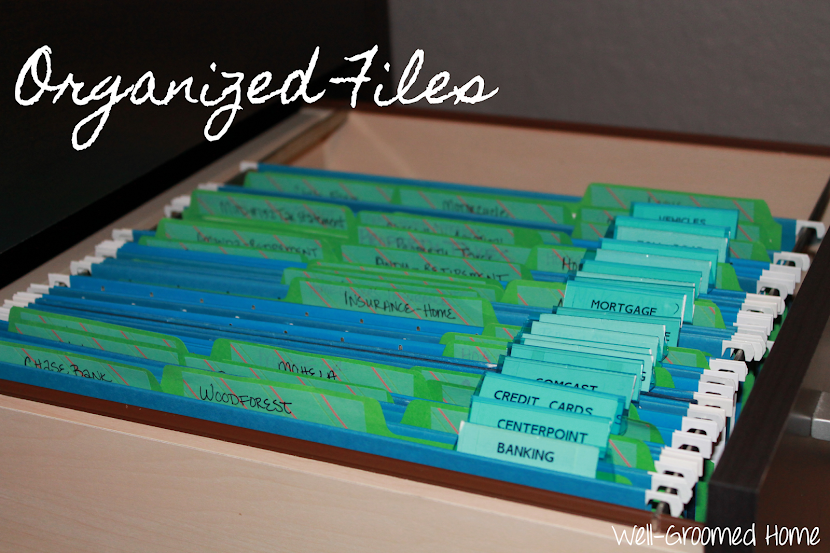 Organizing Files - Well-Groomed Home