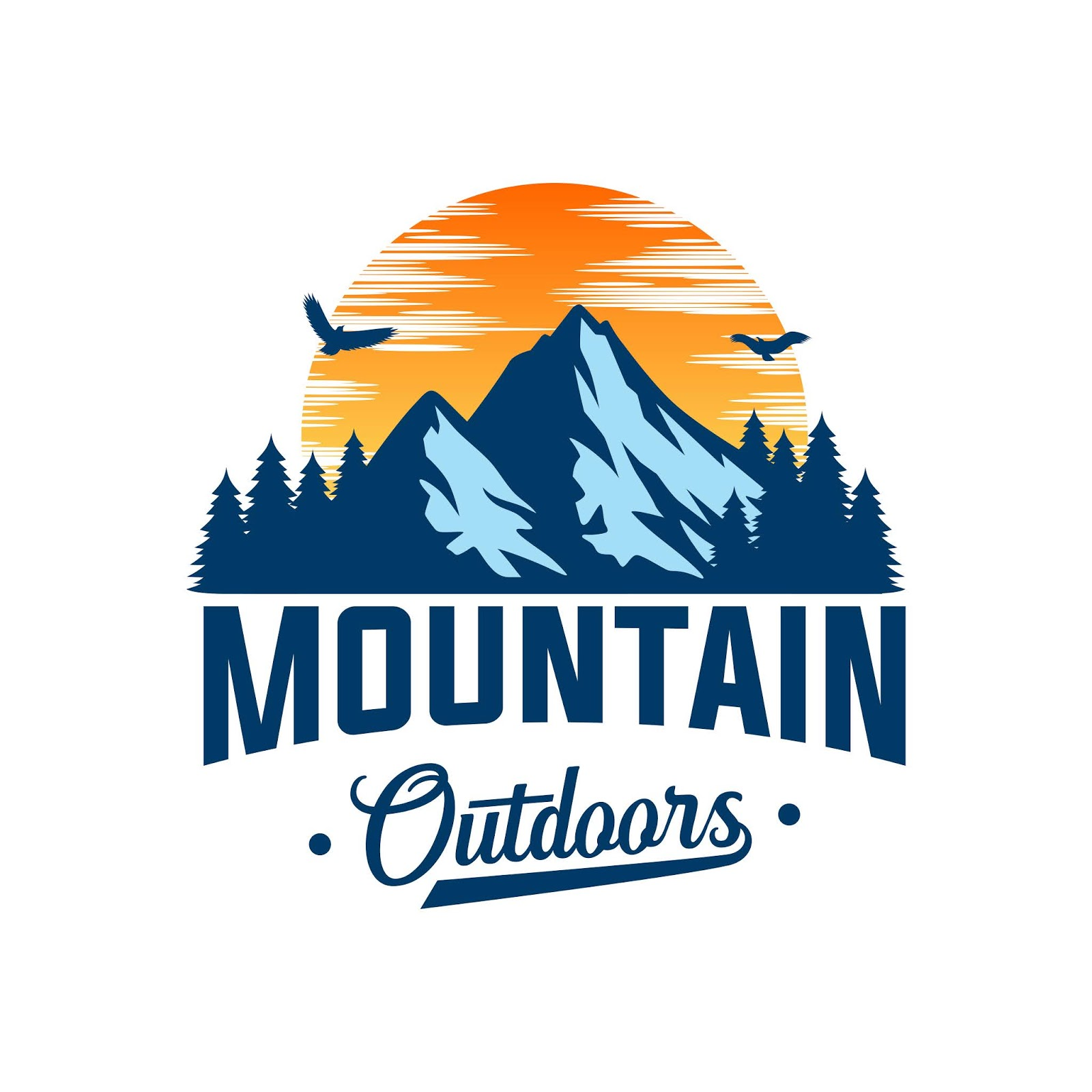 Mountain Logo Adventure Style Free Download Vector CDR, AI, EPS and PNG Formats