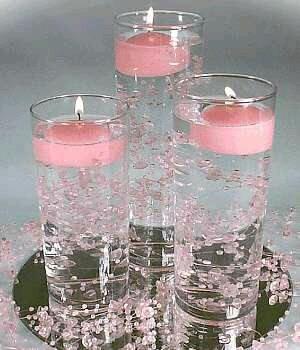 M s y m s manualidades crea hermosos centros de mesa con for Como decorar un cristal de mesa