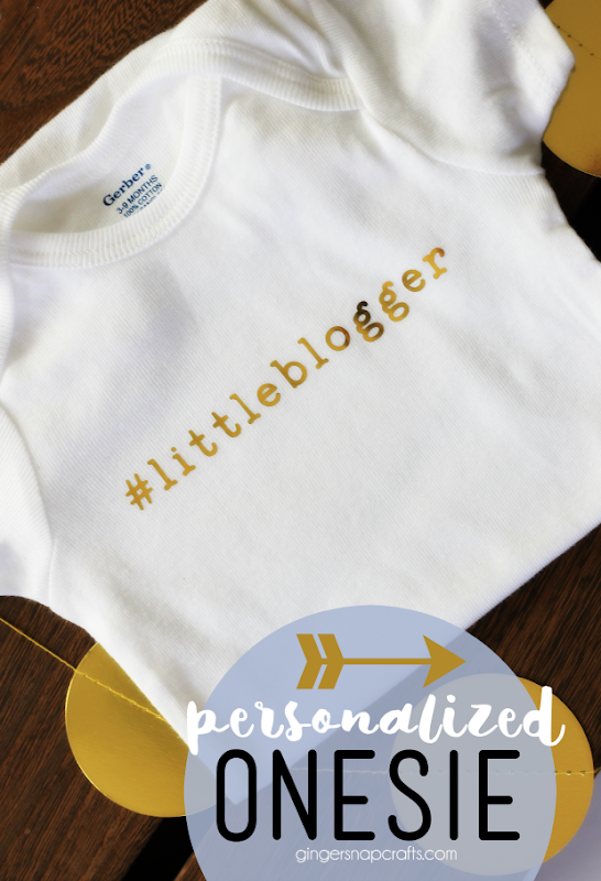 Personalized Baby Onesie at GingerSnapCrafts.com #baby #onesie