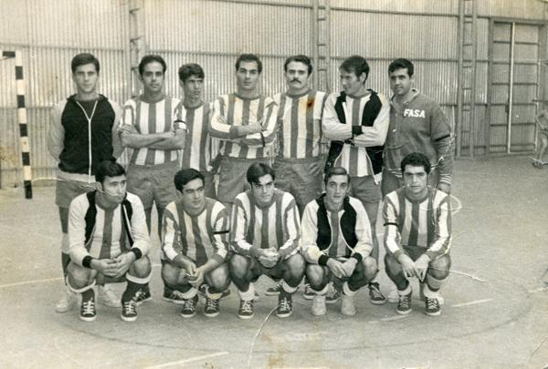 El equipo FASA antes de disputar un partido