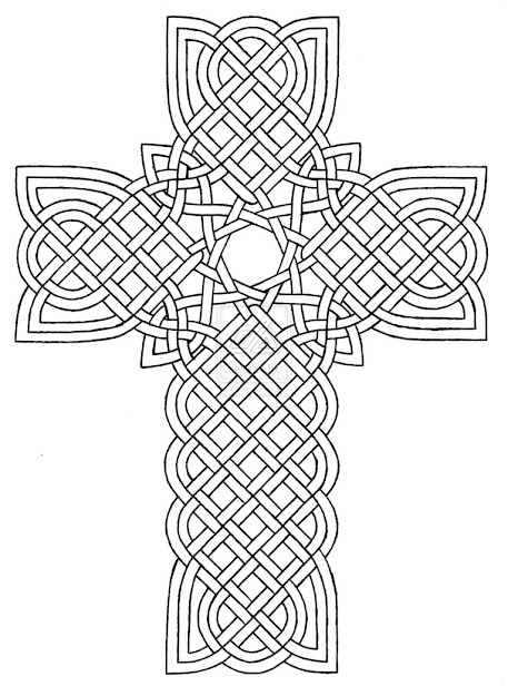 Coloring Pages Crosses Designs  Celtic Cross Design  By Baalthezzar