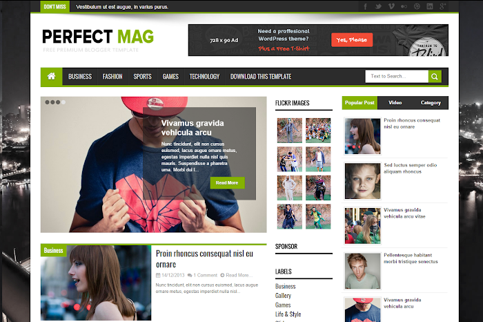 Perfect mag blogger template blogger template treats features accmission Choice Image