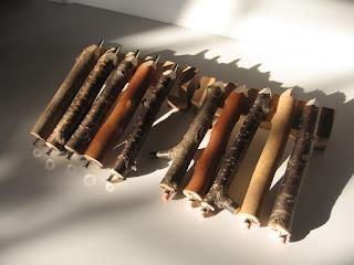 小枝シャープペンシルと小枝ボールペン twig mecanical pencil / twig pen