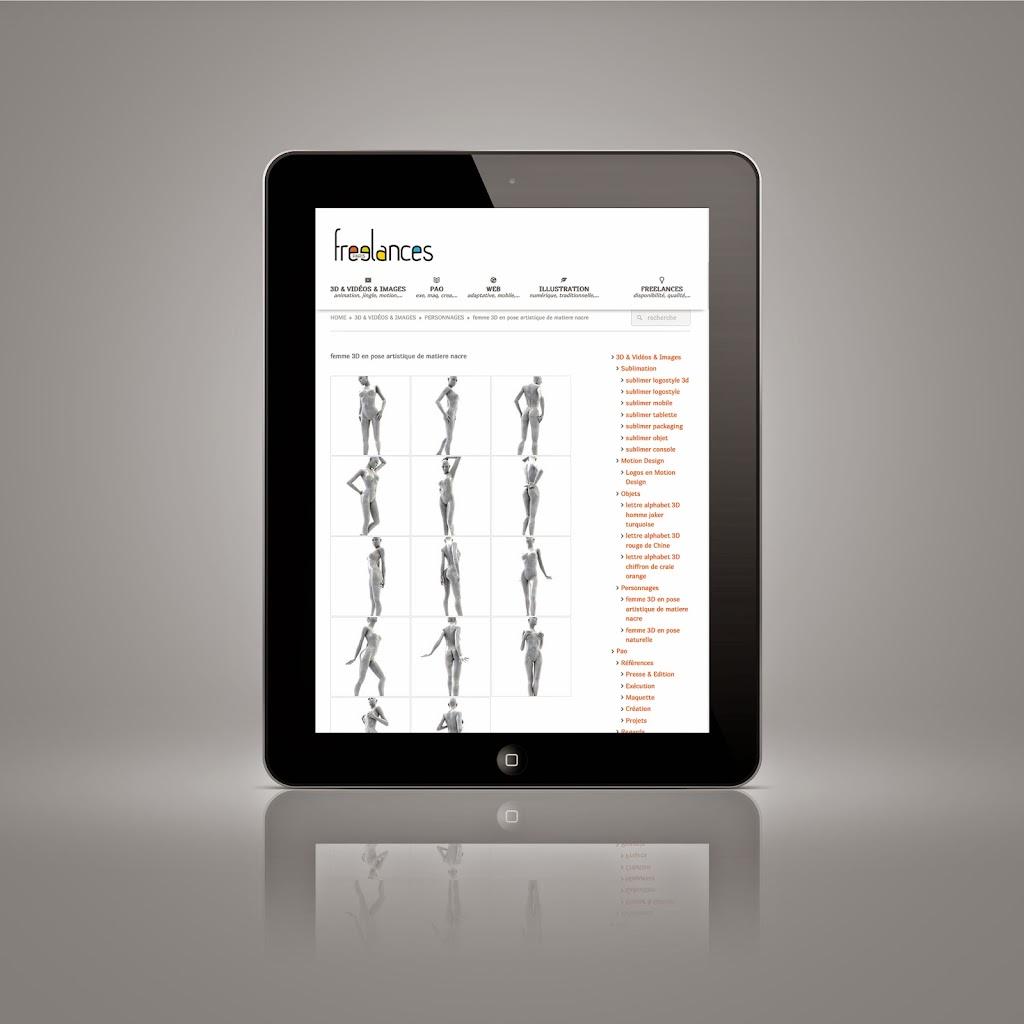 capture écran pour tablettes sublimer présentation responsive web design conception site web adaptatif iPad noire