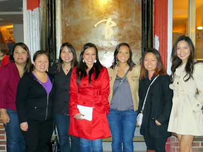 Team Thursday at Judy's Bachelorette Party, dining at Bouillon Bilk in Montreal on September 11, 2014