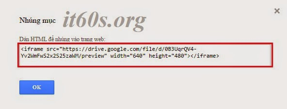 Cách nhúng tài liệu vào trang Web thông qua Google Drive 11
