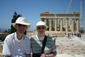 Mom and dad on the Acropolis