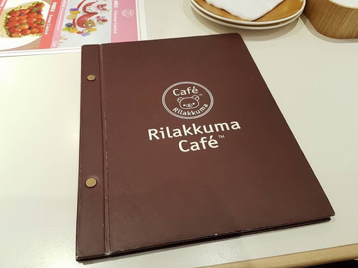 Rilakkuma Cafe menu book in Taipei