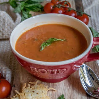Healthy Creamy Tomato Soup.