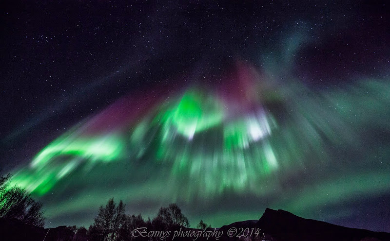 Aurora outburst in Norway. Photographer Benny Høynes