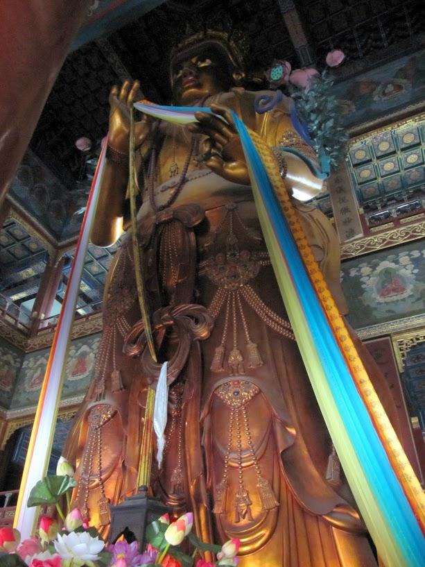 13 meter tall Buddha at the Lama Temple