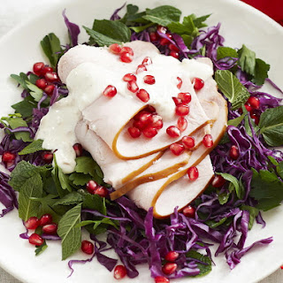 Cold Turkey Salad with Yogurt Dressing.