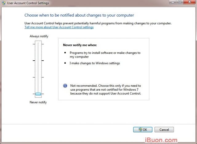 Ảnh mô phỏngHướng dẫn vô hiệu hóa User Account Control (UAC) trên Windows 7/8/8.1/10 - Tat-User-Account-Control-2
