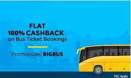 Paytm BIGBUS Offer : Flat ₹150 Cashback on Bus Ticket Bookings