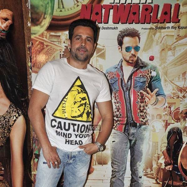 Emraan Hashmi poses for the lens during the press meet of Bollywood movie Raja Natwarlal, held at UTV Office on July 24, 2014.(Pic: Viral Bhayani)