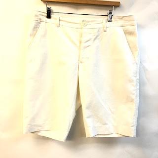 """John Bartlett 34"""" Waist Linen Shorts"""