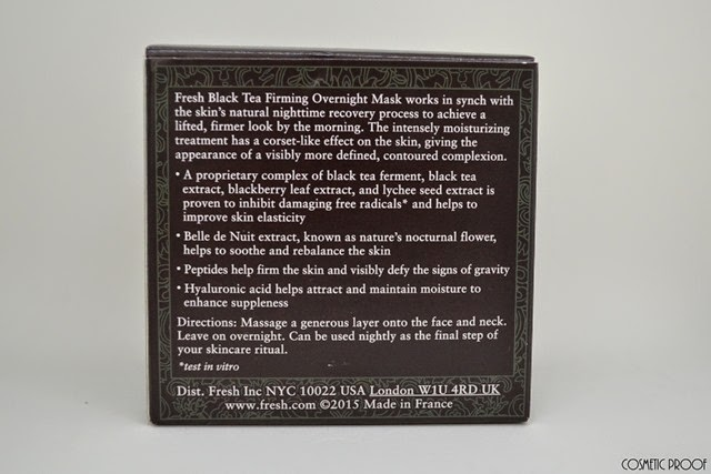 Fresh Black Tea Firming Overnight Mask  Review (2)