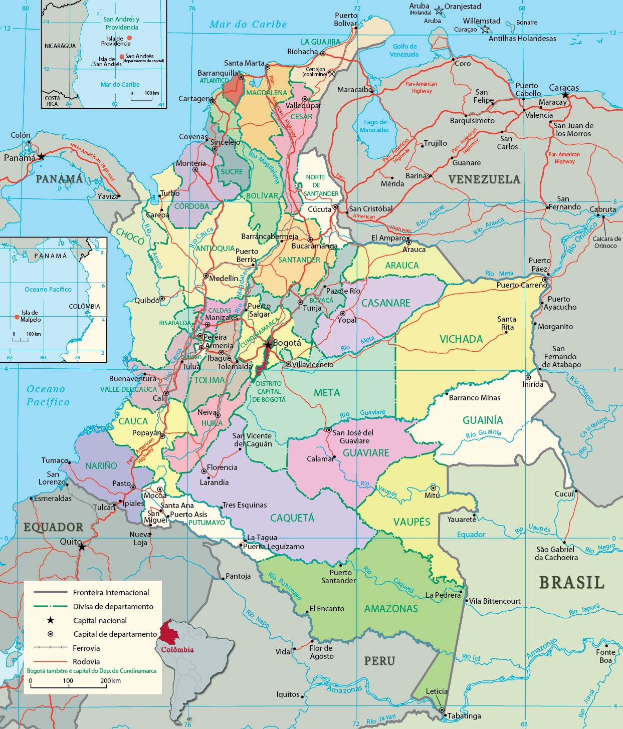 87 Mapa Fsico De Colombia Tamao Completo Al Final  : Mapa2Bpolitico2Bde2BColombia2Bhd2B2 from motocyclenews.top size 1243 x 1455 jpeg 1085kB