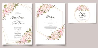 Membuat Undangan Pernikahan Wonderful Pink Flowers | Kaina Studios