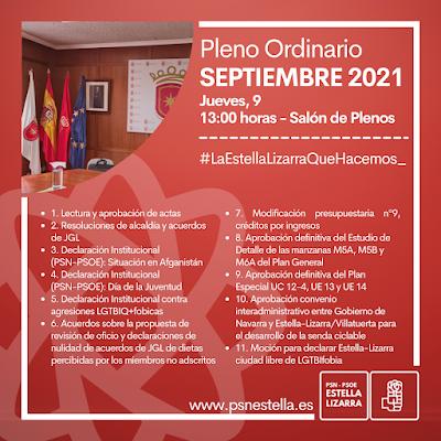 Pleno Ordinario Septiembre 2021