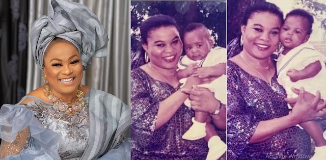 'I pray for you, from the bottom of my heart' Actress Sola Sobowale celebrates her twin daughter's birthday in style [Photos]