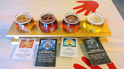 Left Hand Brewing Tasting Room tasting trays comes with small laminated cards to help you track the beers you have selected