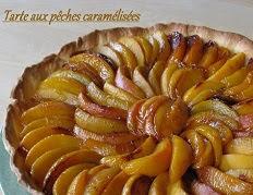 Tarte aux peches caramelisees et creme d amandes