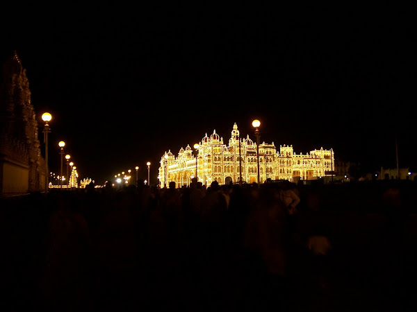Mysore Palace by night